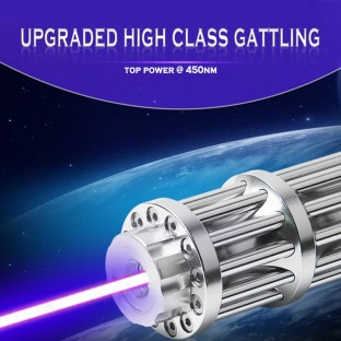 High Power Laser 10000mW - 30000mw Blue Laser Pointer Gattling Style