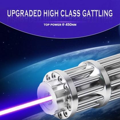 Gattling Style 10000mW - 30000mW Blue Laser Pointer Laser Flashlight