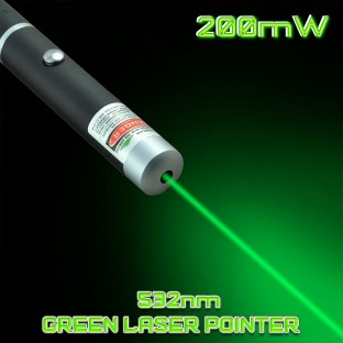 200mW 532nm Green Laser Pointer Pen Mid-Open Cool Gadgets