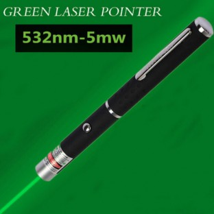 Bright 5mW 532nm Green Laser Pointer Pen Pet Toy
