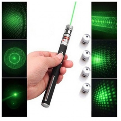5 in 1 532nm Effect Green Laser Pointer Pen Cool Gadgets Kaleidoscopic 5mW - 500mW