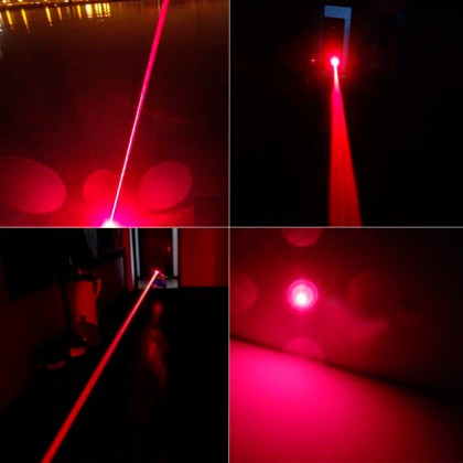 5 in 1 Middle Open 650nm Red Laser Pointer Kaleidoscopic Pen 5mW - 500mW