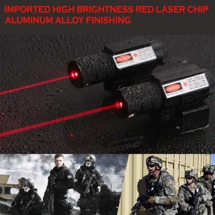 Hunting Red Dot Laser Sight 20mm Rail Mount With Dual Switch For Pistol and Rifle