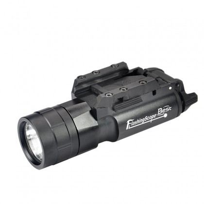 420 Lumen Gree Tactical Flashlight  LED white light with picatinney rail For Rifle Hunt