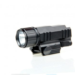 200 Lumens CREE LED Tactical Gun Flashlight Torch Pistol Handgun Torch Light Lamp with Mount for Hiking Camping Hunting