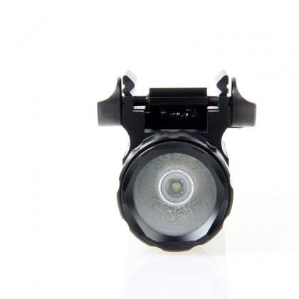 200 Lumens CREE LED Tactical Gun Flashlight Torch Pistol Handgun Torch Light Lamp with Mount for Hiking Camping Hunting