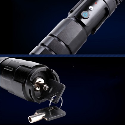 30000mW 445nm Blue Beam 3-Mode Zoomable 5-in-1 Laser Pointer Self-Defense