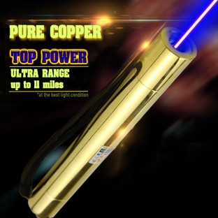Gold Edition 10W-50W Pure Copper Super Power 445nm Blue Laser Pointer
