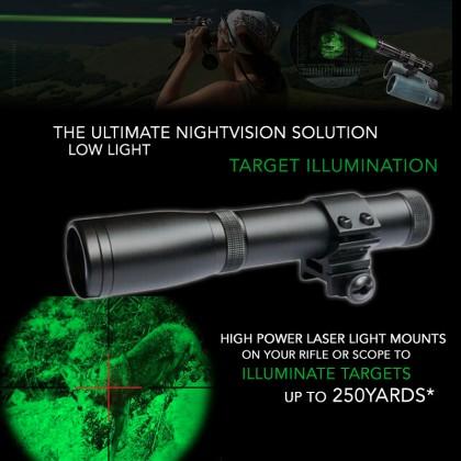 ND3x30 Hunting Long Distance Green Laser Designator Flashlight Sight For Rifle