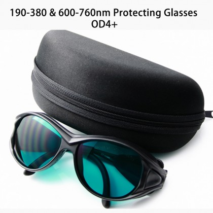 190-380&600-760nm Red Laser Protection Safety Glasses Goggles OD4+