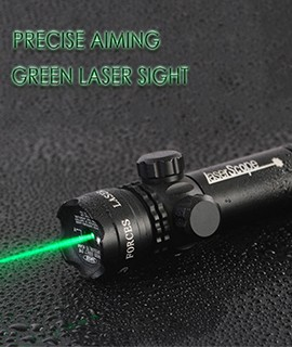 Green Laser Sight With External Windage & Elevation